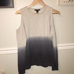 Cut out shoulder ombré sweater!